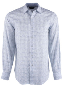 Bugatchi Petrol Fancy Check Shirt - Front