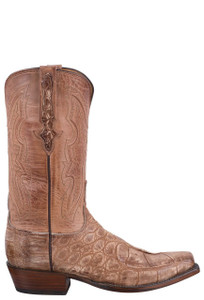 Lucchese Men's Cognac Wild Gator Boots - Side