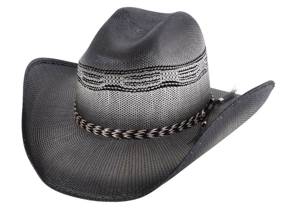 Bullhide Black Raising Sand Straw Hat