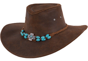 Bullhide Rusty Hope Golden Brown Leather Hat