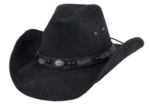 Bullhide Serenade Black Leather Hat