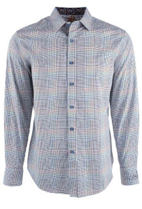Robert Graham Long Sleeve Trinidad Sport Shirt  - Front