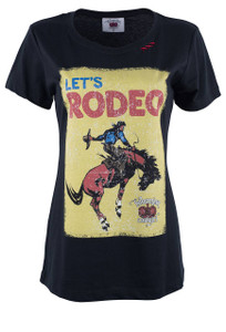 Bohemian Cowgirl Rodeo Time Tee - Front