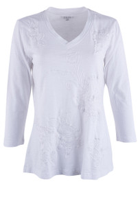 Caite Angie Cotton Top - White