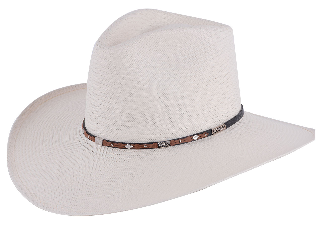 bfd902ee416 Stetson 8X Silver Horn Straw Hat - Pinto Ranch