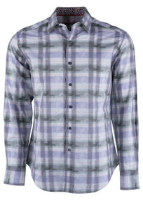 Robert Graham Plaid Paisley Jacquard Sport Shirt - Front