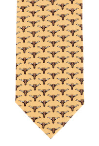 Paris Texas Apparel Co. Texas Longhorn Tie - Yellow