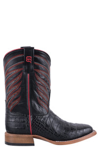 Anderson Bean Kids Black Cayman Print Boots - Side