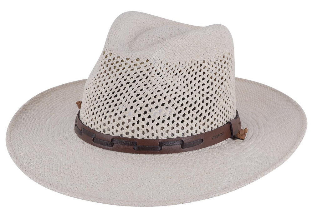 b6e4f047a7a Stetson Airway Panama Safari Straw Hat - Pinto Ranch