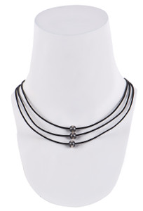 Wrapped to Wear Three Tier Navajo Pear Necklace - Front