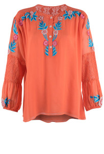 Vintage Collection Embroidered Jessica Top - Front