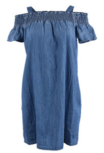 Stetson Off-the-Shoulder Denim Dress - Front