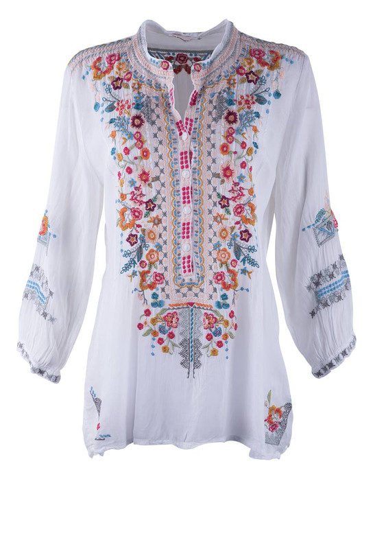 fa4b690a2922 Johnny Was Embroidered Bethanie Tunic - Pinto Ranch