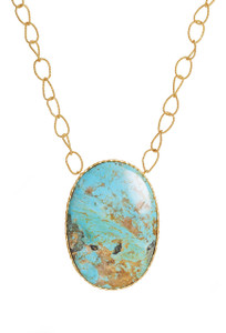 Christina Greene Large Turquoise Pendant Necklace