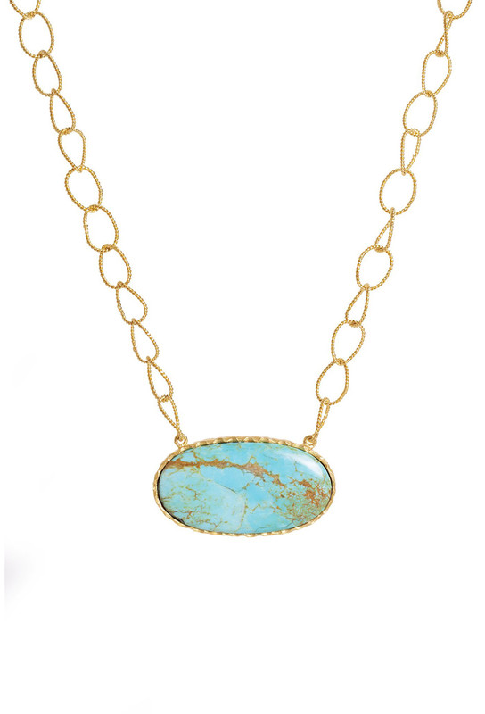 Christina Greene Simple Turquoise Necklace