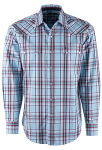 Stetson Vinate Turquoise Ombre Snap Shirt  - Front
