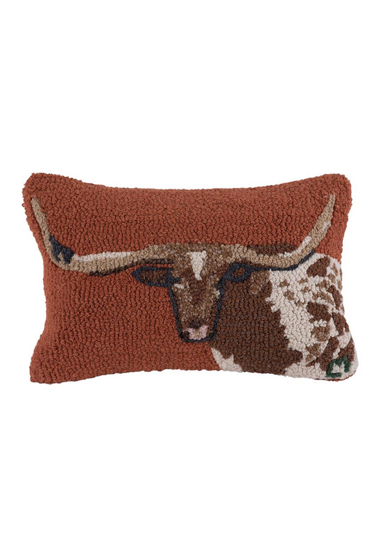Chandler 4 Corners Longhorn Pillow - Front