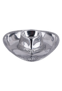 Arthur Court Cowboy Hat Chip and Dip Tray