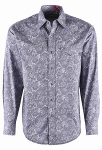 Stetson Grey Marble Vintage Paisley Shirt - Front