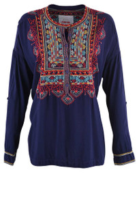 Johnny Was Biya Sucia Challis Blouse - Front