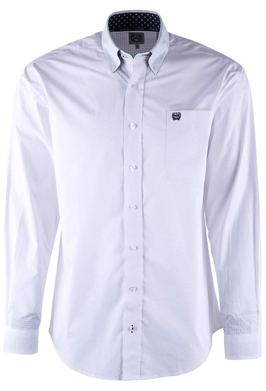 a818618e Cinch White Round Printed Plain Weave Shirt - Pinto Ranch