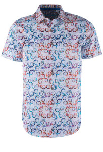 Robert Graham Holler White Short Sleeve Sport Shirt - Front