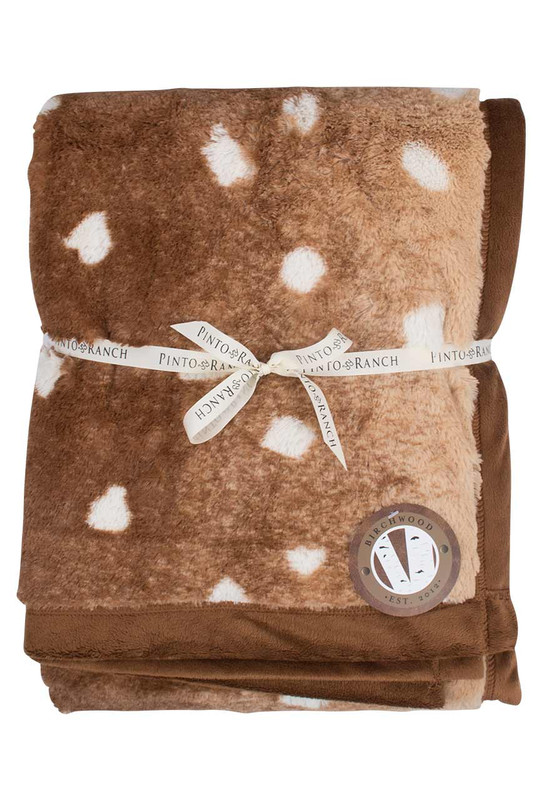Birchwood Axis Deer Animal Print Throw Blanket
