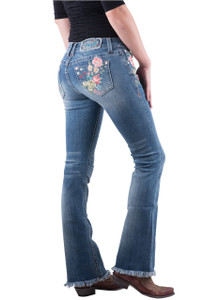 Grace in L.A. Bella Floral Boot Cut Jeans