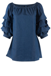 Scully Cabbage Sleeve Top - Front