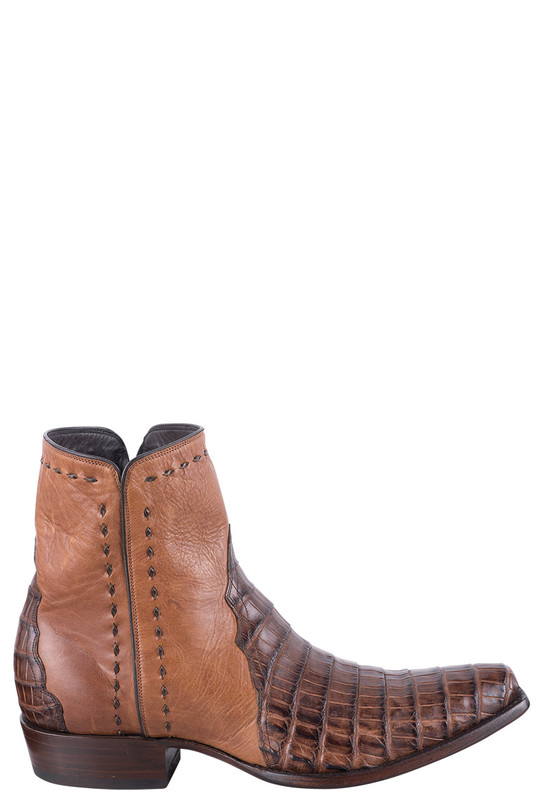 Stallion Men's Cognac Caiman Zorro Boots - Side