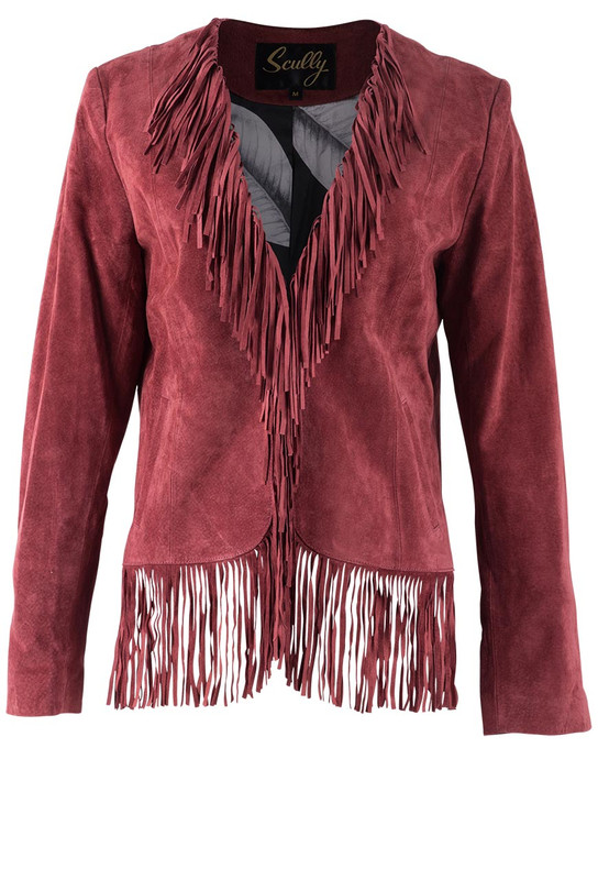 Scully Suede Short Jacket  - Front