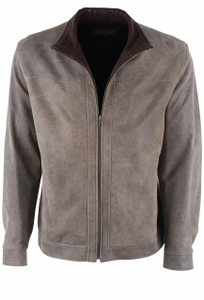Remy Diego and Rustic Suede Leather Jacket - Front