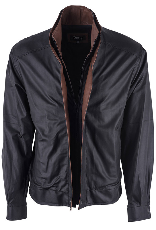 Remy Peat and Dakota Leather Jacket - Front