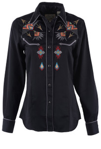 Roper Old West Classics Thunderbird Embroidered Shirt - Front