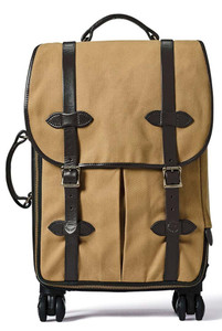 Filson Rolling 4-Wheel Carry-On Tan - Front