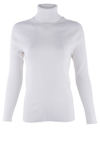 Metric Black Long Sleeve Turtleneck -  Front - Ivory