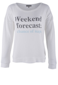 P.J. Salvage Weekend Forecast Pajama Top - Front