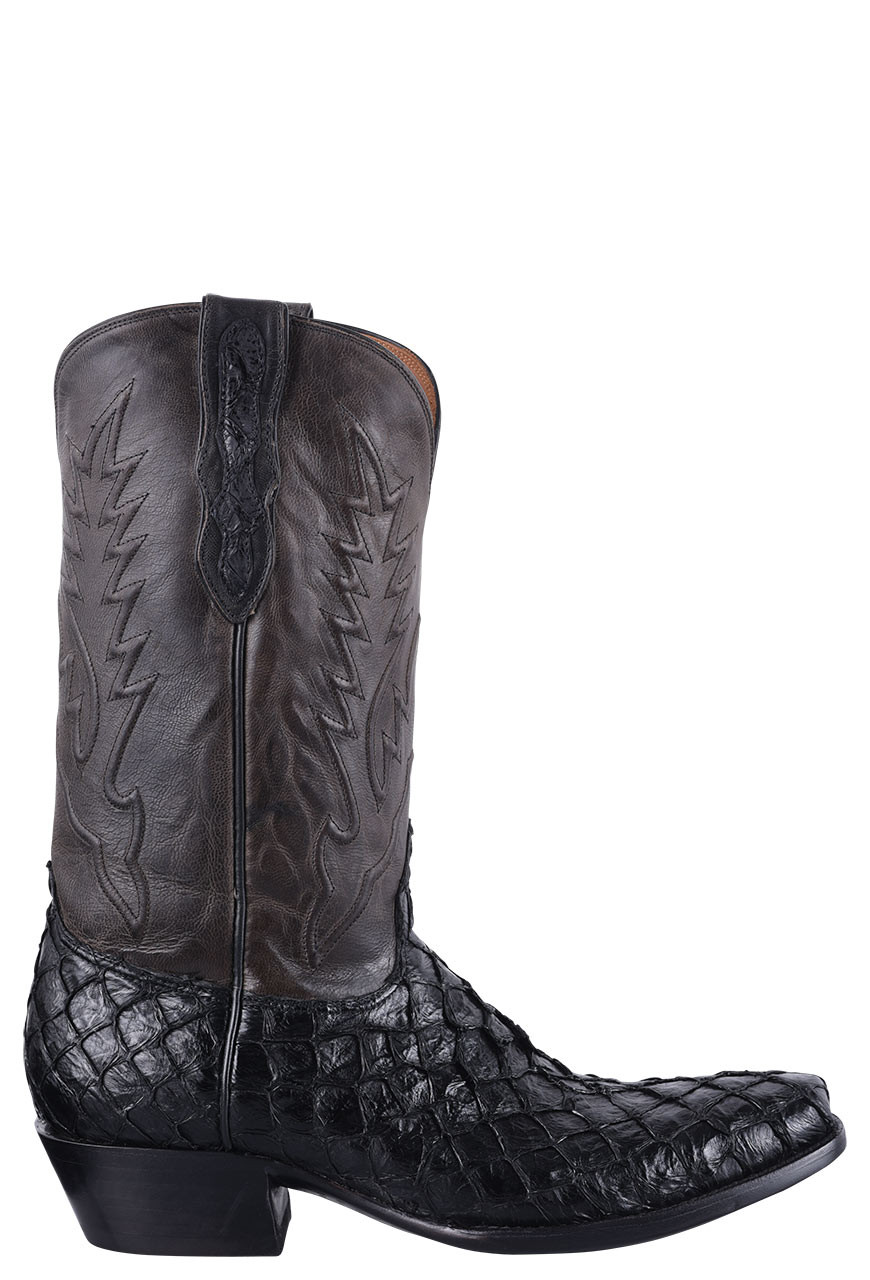 becd1dfe088 Black Jack for Pinto Ranch Men's Black Inverted Fish Boots