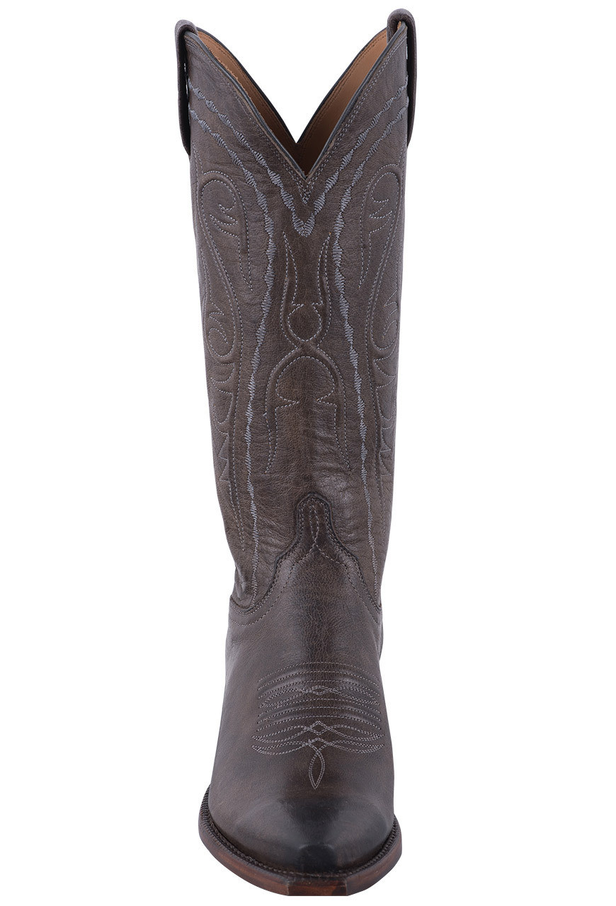 95a5d5c6028 Lucchese Women's Anthracite Mad Dog Goat Cowgirl Boots