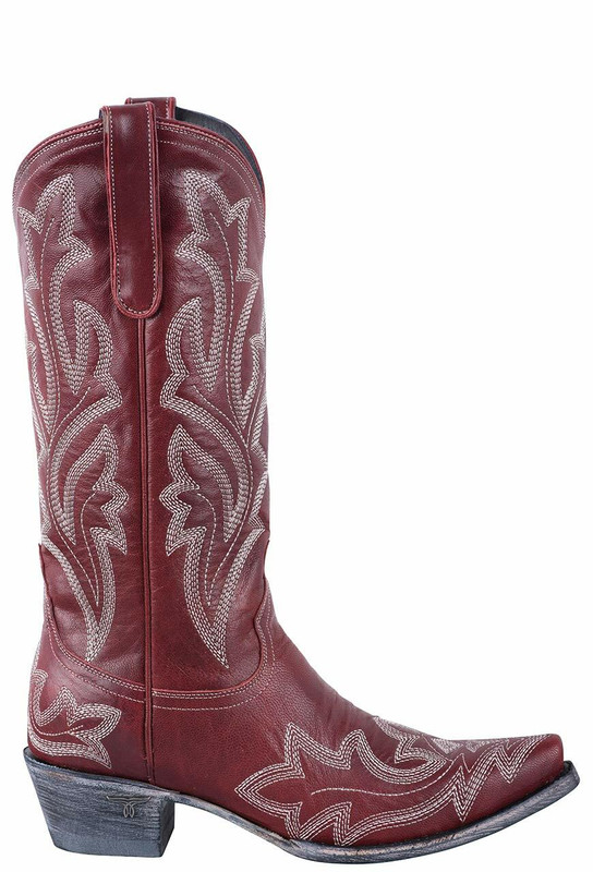 Lane Women's Red Saratoga Boots - Side