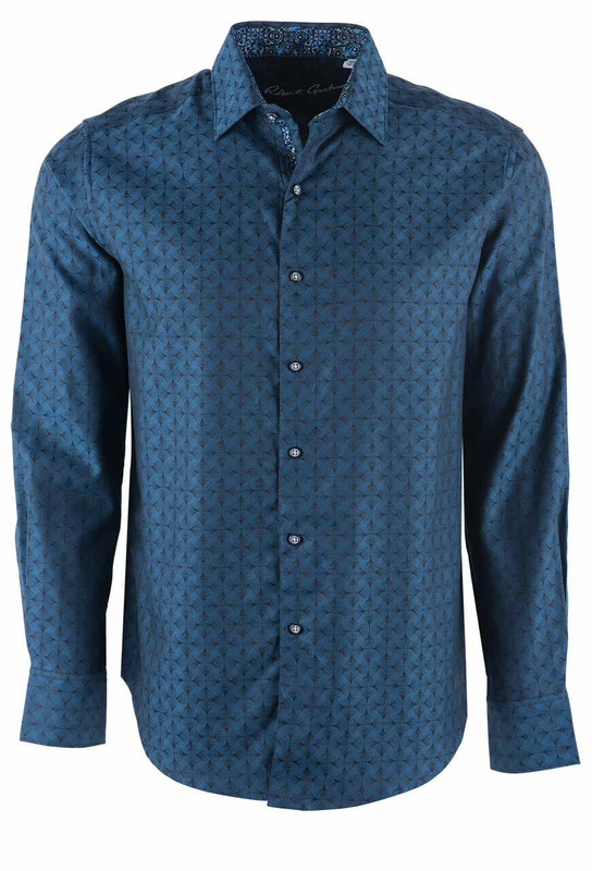 Robert Graham Diamante Steel Sport Shirt - Front