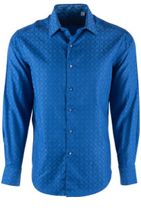 Robert Graham Diamante Cobalt Sport Shirt - Front