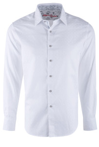 Robert Graham Diamante White Sport Shirt - Front