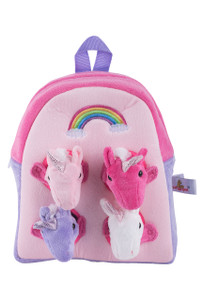 Plush Unicorn Backpack - Front