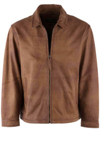 Madison Creek Caramel Hickory Featherlite Lamb Coat - Front