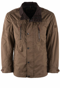 Madison Creek Elk Brown Blowing Rock Poplin Jacket - Front