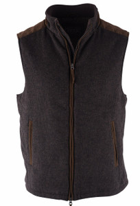 Madison Creek Multi Check Wool Overland Vest - Front