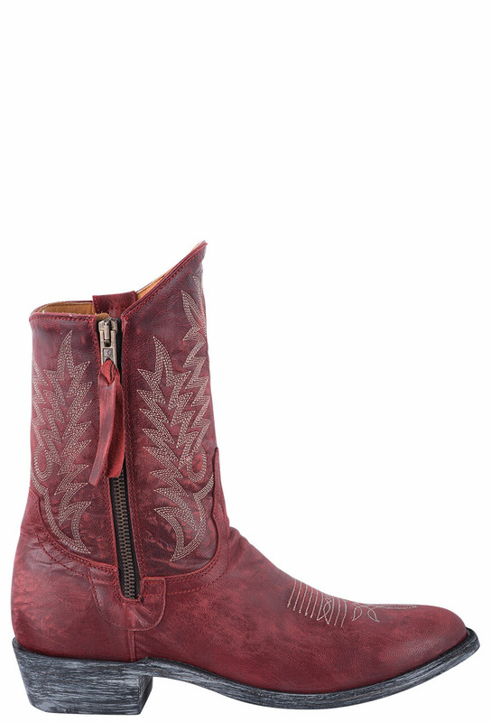 """Old Gringo Women's 8"""" Razz Red Boots - Side"""