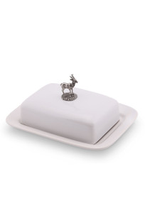 Vagabond House Stag Butter Dish - Front