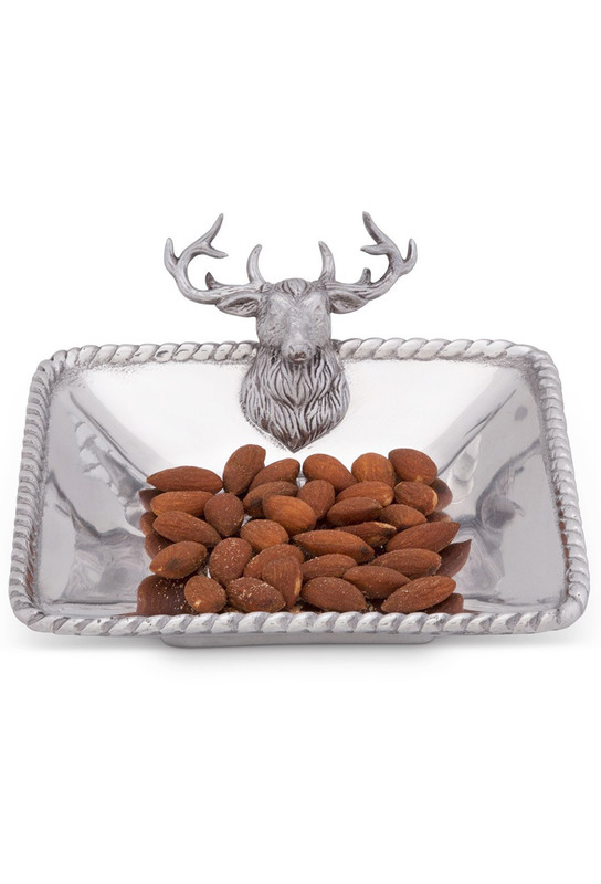 Arthur Court Elk Head Nut Bowl